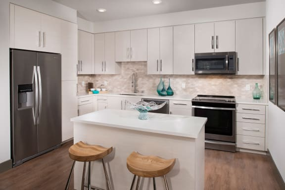 Stainless steel appliances at Blu Harbor by Windsor, CA, 94063