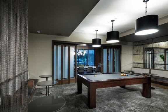 Pool table at Windsor Oak Hill, TX, 78735