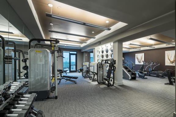 Fitness center at Windsor Oak Hill, Austin, Texas