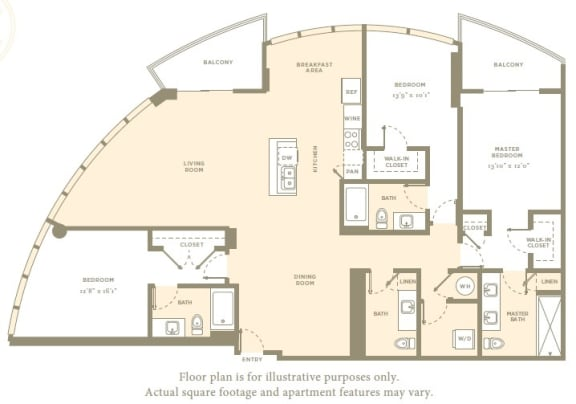Floor Plan  P1 Floor Plan at Amaray Las Olas by Windsor, Florida, 33301