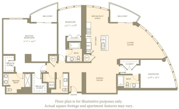 Floor Plan  PH2 Floor Plan at Amaray Las Olas by Windsor, 215 SE 8th Ave, FL
