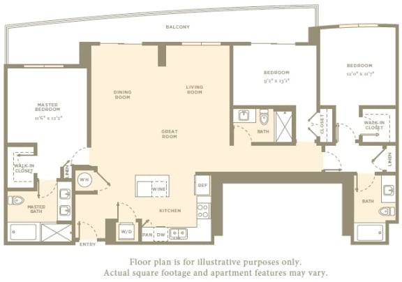 Floor Plan  PH4 Floor Plan at Amaray Las Olas by Windsor, FL, 33301