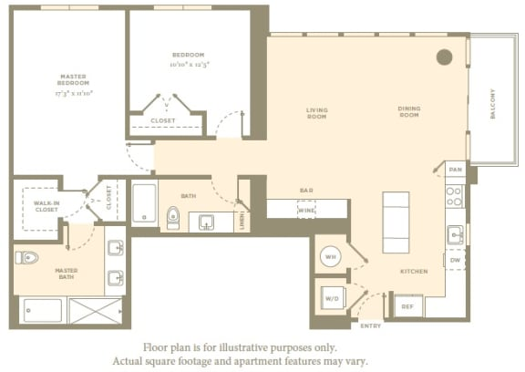 Floor Plan  PH5 Floor Plan at Amaray Las Olas by Windsor, Florida, 33301