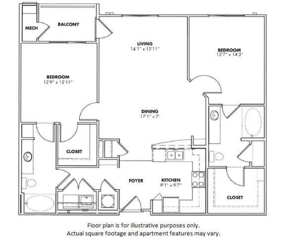 Floor Plan  Ravinia floor plan at Windsor at Glenridge, GA, 30342, opens a dialog