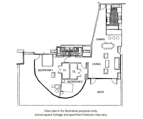 Floor Plan  Lower penthouse floor plan at Renaissance Tower, Los Angeles, California, opens a dialog