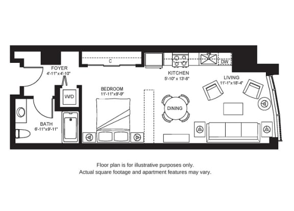 Floor Plan  S1 North New at The Bravern, 688 110th Ave NE, 98004