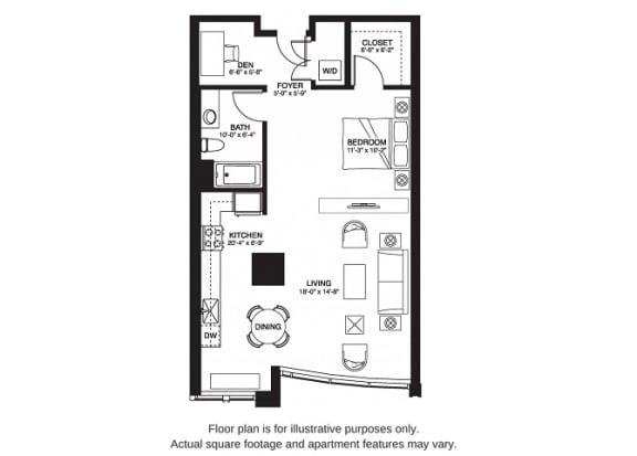 Floor Plan  S10 New at The Bravern, 688 110th Ave NE, 98004