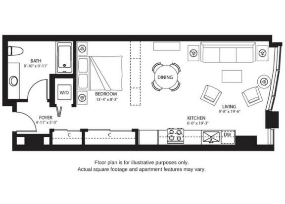 Floor Plan  S2 North New at The Bravern, Bellevue, WA