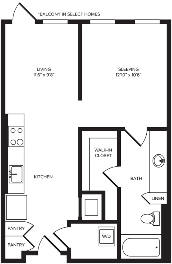 Floor Plan  S2 floor plan at Windsor Turtle Creek, Dallas, TX