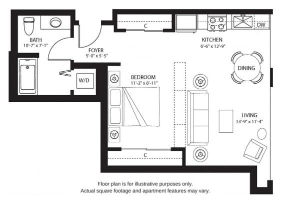Floor Plan  S3 North floor plan at The Bravern, Washington, 98004