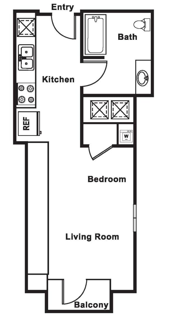 Floor Plan  S3 floor plan at Cirrus, Seattle, Washington