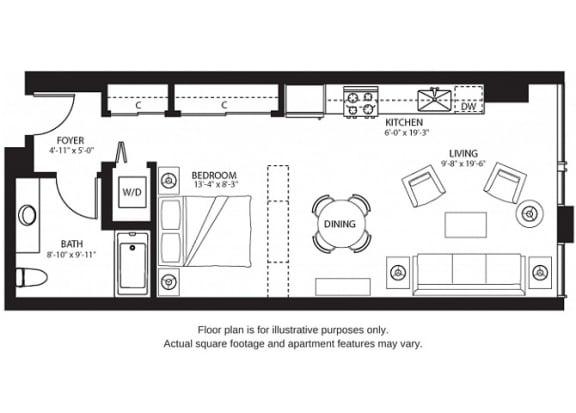 Floor Plan  S7 North at The Bravern, 688 110th Ave NE, 98004