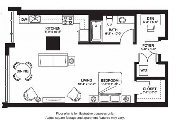Floor Plan  S9 South New at The Bravern, 688 110th Ave NE, 98004