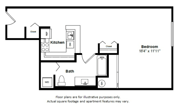 Floor Plan  Santo Domingo floor plan at Tera Apartments, Washington, 98033