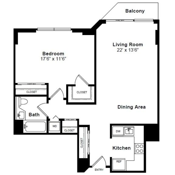Floor Plan  SoHo floor plan at Windsor at Mariners, Edgewater, NJ