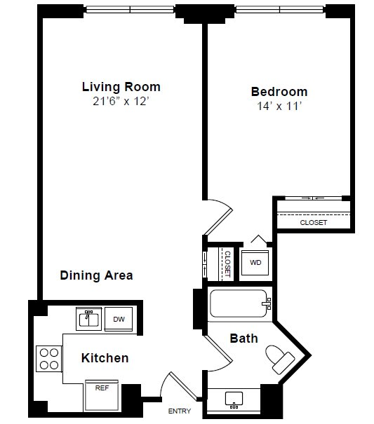 Floor Plan  Sutton floor plan at Windsor at Mariners, 100 Tower Dr., Edgewater