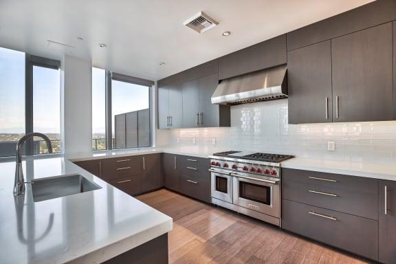 Penthouse kitchen at The Bravern, Bellevue, WA