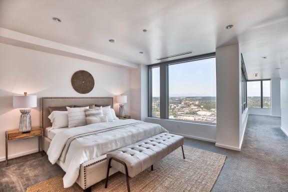 Spacious master bedroom at The Bravern, WA, 98004