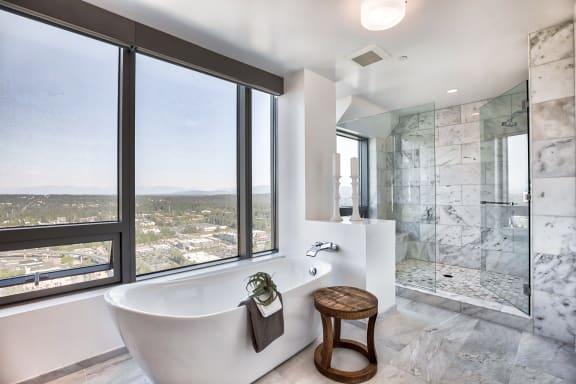 Penthouse bathroom at The Bravern, 688 110th Ave NE, WA