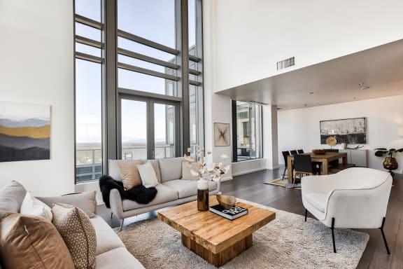 Penthouse windows at The Bravern, WA, 98004