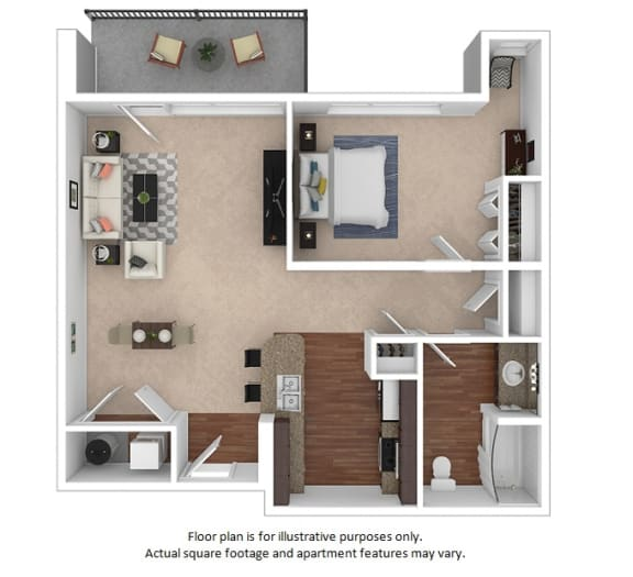 Floor Plan  1x1_7_728sf floor plan at The District, Colorado, 80222