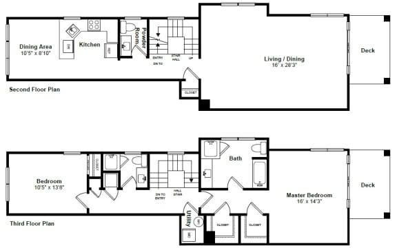 Floor Plan  Waterloo floor plan at Windsor at Mariners, Edgewater, NJ
