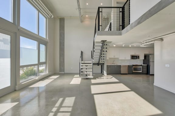Stairs in apartment at Windsor at Dogpatch, CA, 94107
