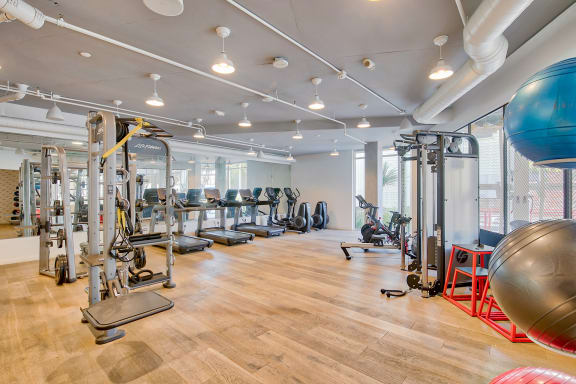 Fitness center at Windsor at Dogpatch, San Francisco, CA