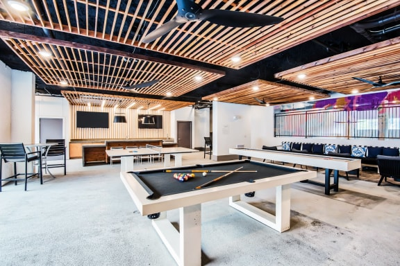 Billiards table at Windsor Shepherd, Houston, TX