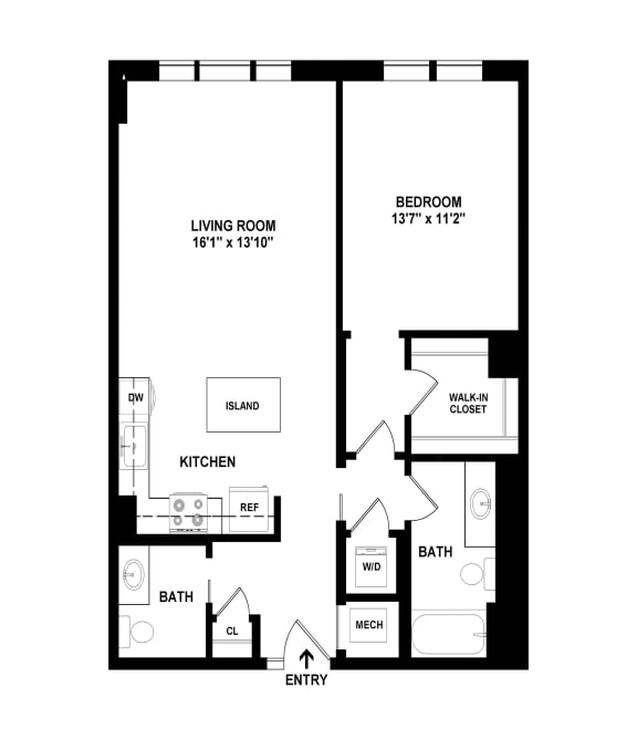 10(2) floor plan at The Woodley, 2700 Woodley Road, NW, 20008