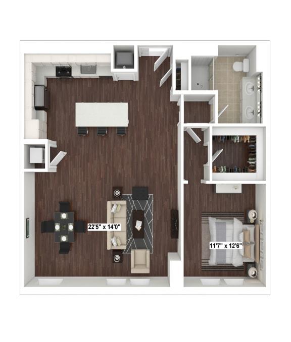 Floor Plan  A7(3) floor plan at The Woodley, Washington, DC 20008