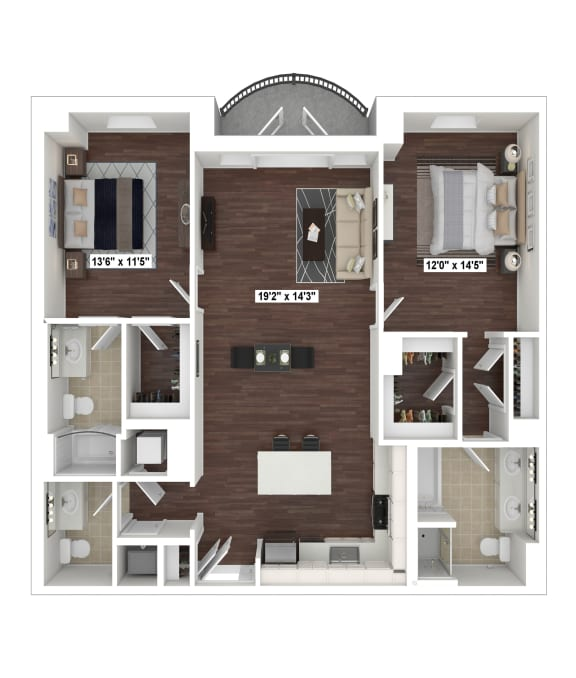 Floor Plan  B5(3) floor plan at The Woodley, Washington, DC
