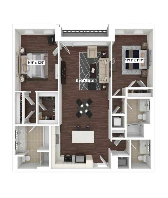Floor Plan  B6(2) floor plan at The Woodley, 2700 Woodley Road, NW, 20008