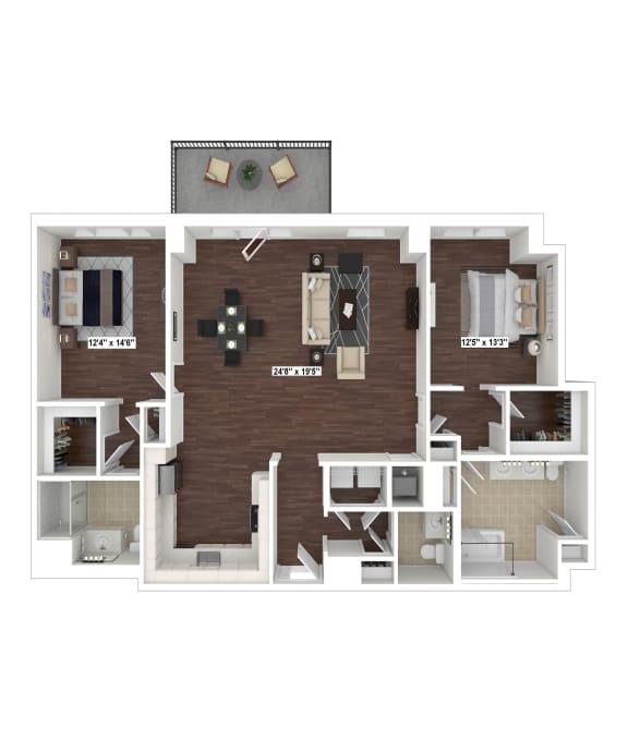 Floor Plan  B7(2) floor plan at The Woodley, Washington, DC 20008