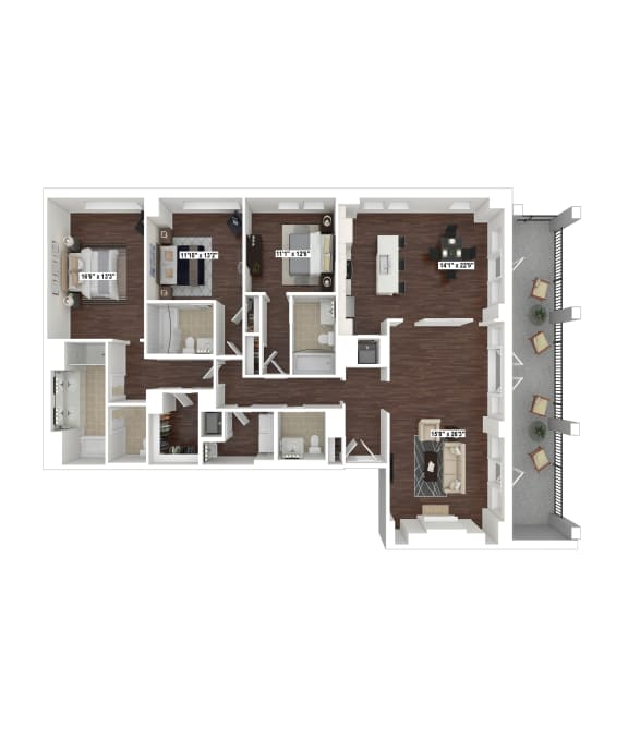 Floor Plan  PH15