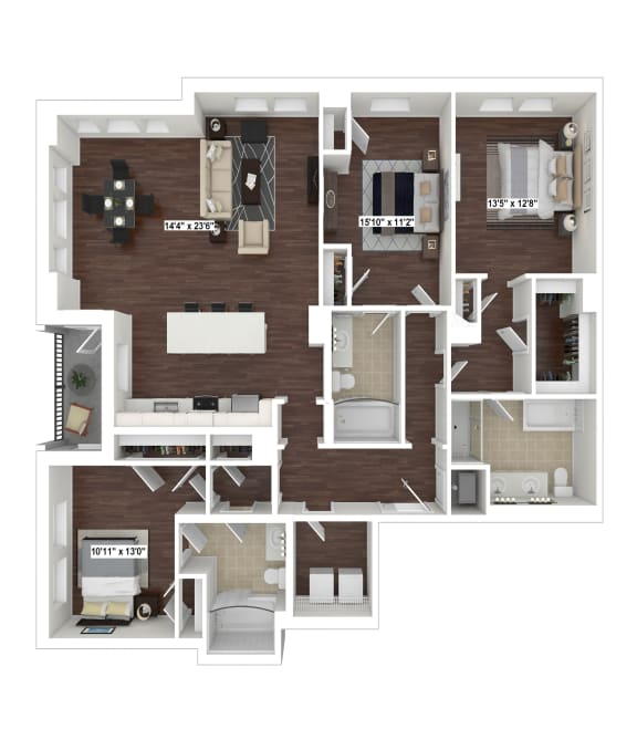 Floor Plan  C1 at The Woodley, Washington, DC