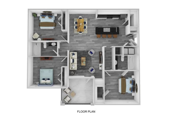 The Cambridge Floor Plan at Lakeside at Town Center, Marietta, GA