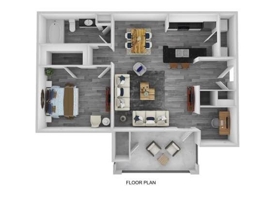 Cheshire Floor Plan at Lakeside at Town Center, Georgia, 30066
