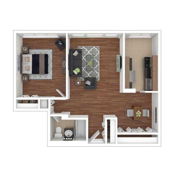Colesville  Towers Apartments  1 bedroom floorplan 840 sq ft