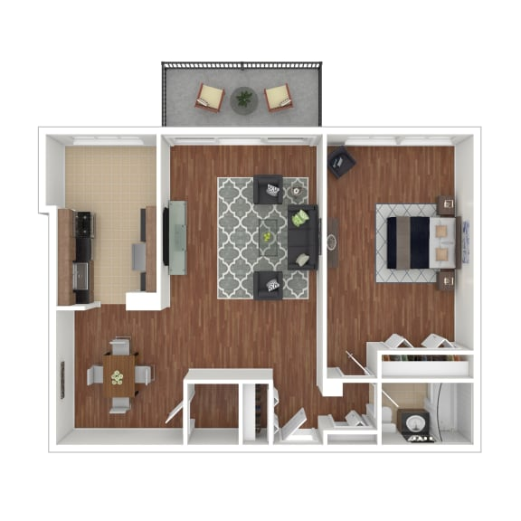 Colesville  Towers Apartments  1 bedroom floorplan 900 sq ft