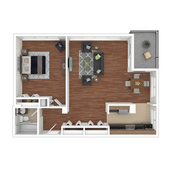 Colesville  Towers Apartments  1 bedroom floorplan 800 sq ft