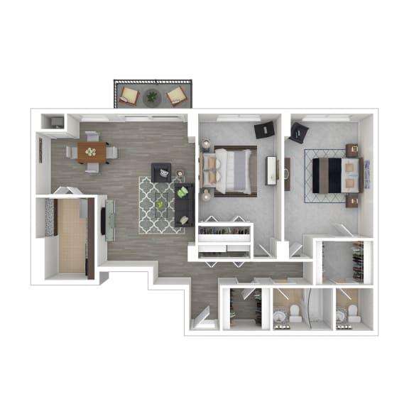 Metro 710 Apartments 2x1.5 Bedroom
