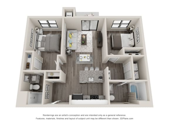C1 Floor Plan at Latitude at South Portland, Maine