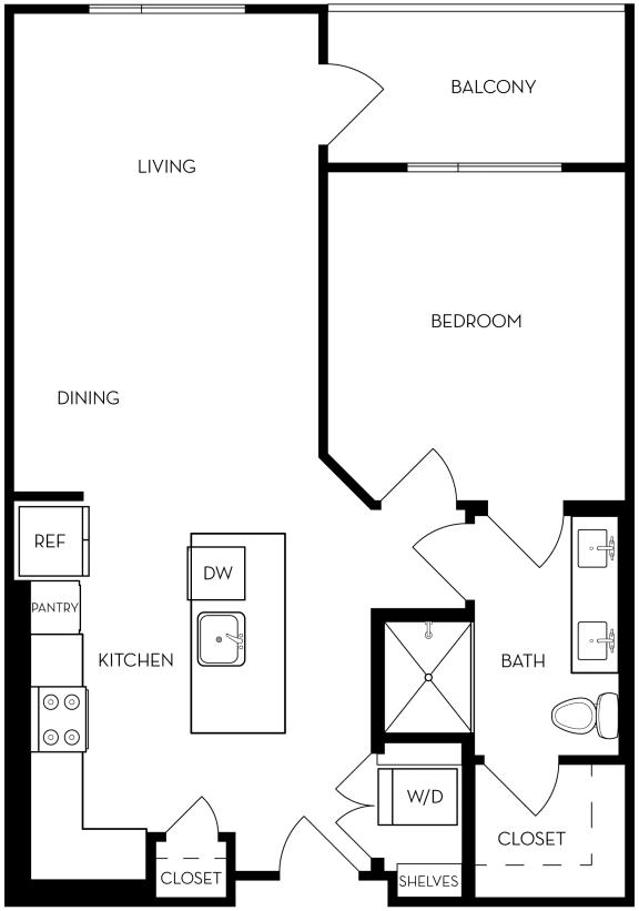 1B-2 Floor Plan
