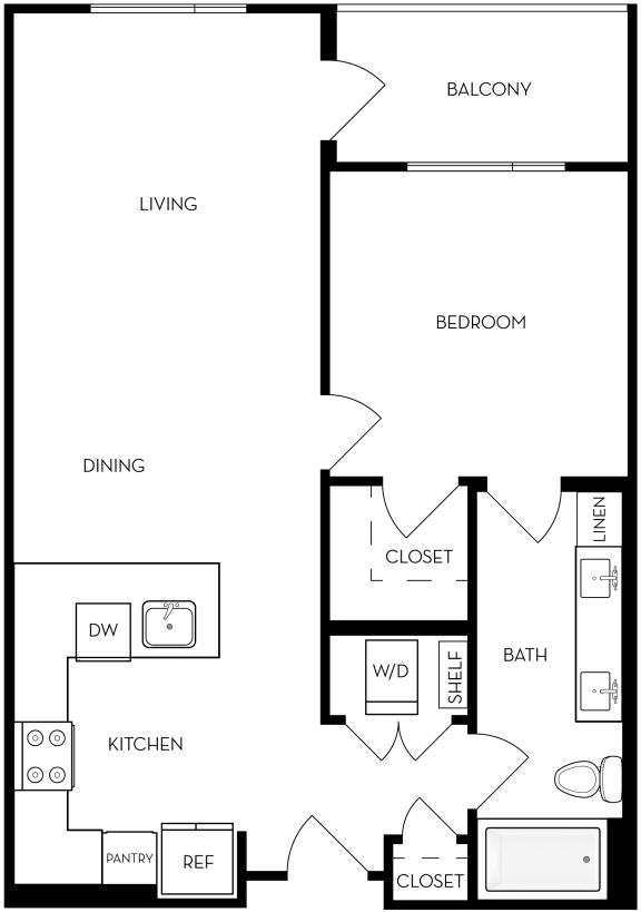 1B-3 Floor Plan