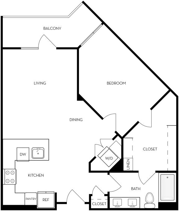 1B-4 Floor Plan