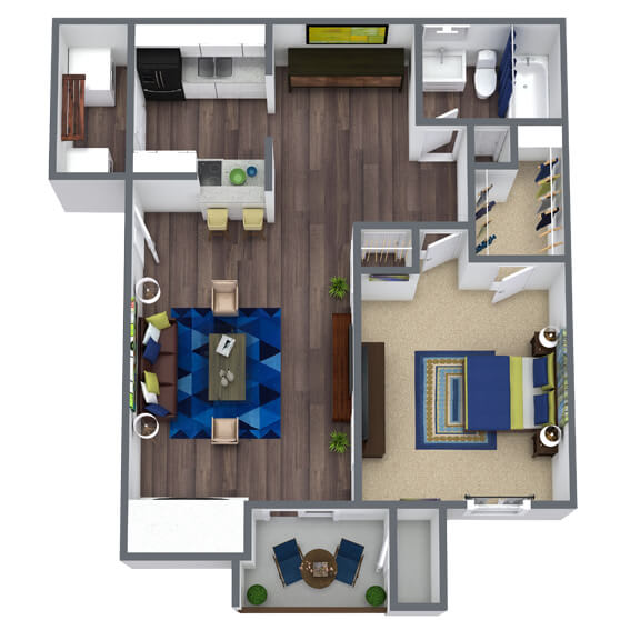 Sierra Ridge Floor Plan 1x1