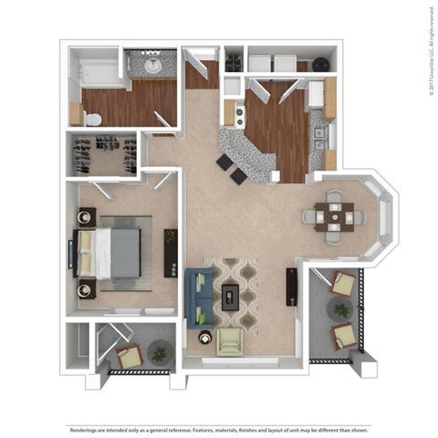 A3 Floor Plan at Huntington Ridge  Apartments,CLEAR Property Management, DeSoto, Texas