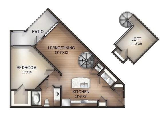 Floor Plan  Oxmoor Loft