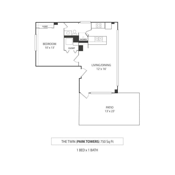 Floor Plan  The Twin Floorplan
